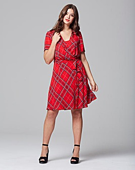 Lovedrobe Check Print Wrap Dress