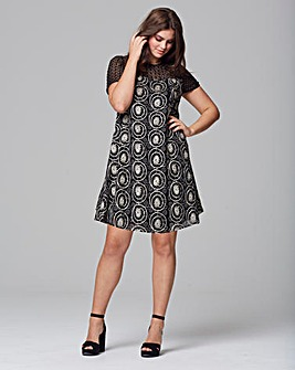 Lovedrobe Embroidered Swing Dress