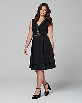 Lovedrobe Deep V Skater Dress
