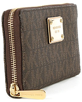 Michael Kors Logo Zip Around Wallet