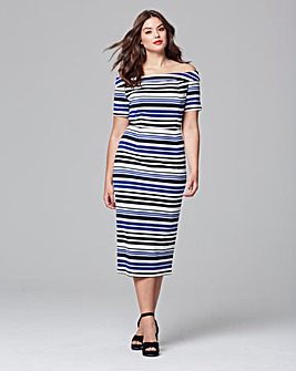Lovedrobe Bardot Stripe Dress
