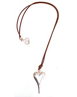Lizzie Lee Long Heart Necklace