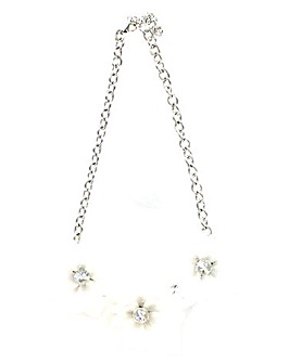 Lizzie Lee Acrylic 3 Flower Necklace