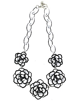 Lizzie Lee Acrylic Flower Necklace