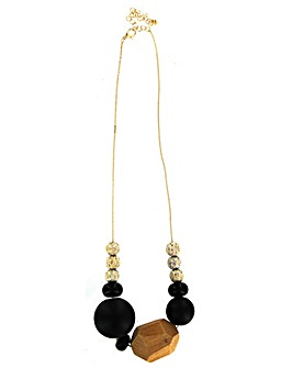 Lizzie Lee Wooden Beaded Necklace