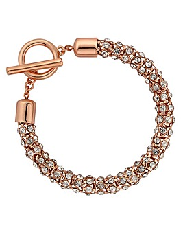 Jon Richard crystal mesh toggle bracelet