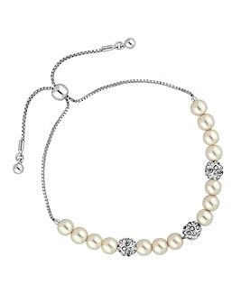 Jon Richard pave ball toggle bracelet