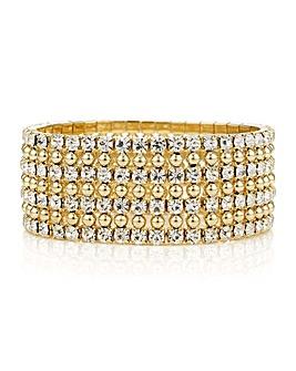 Mood gold diamante crystal bracelet