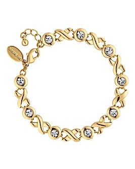 Jon Richard gold crystal cross bracelet