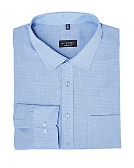 Eterna Mighty Textured Mini Dot Shirt