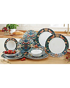 Spode William Morris Dinner Plate Set 4