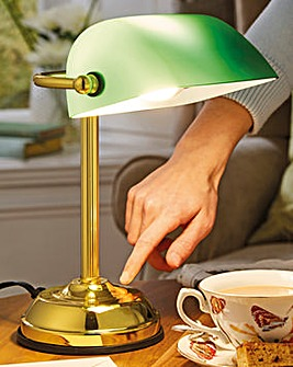 Traditional Style Bankers Touch Lamp