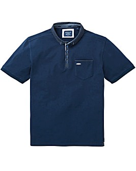 Bewley & Ritch Pegg Print Collar Polo R