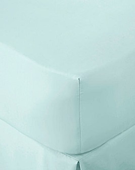 200TC Percale Plain-Dye Fitted Sheet