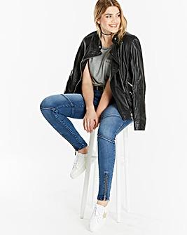 Chloe Biker Skinny Jeans Reg