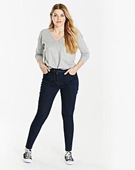 Skinny Leg Jeans Short