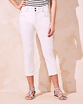 White Shape & Sculpt Crop Jeans