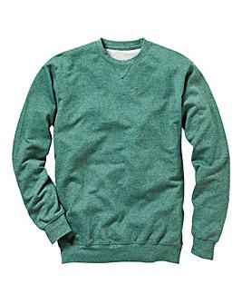 Label J Flecked Crew Sweatshirt Long