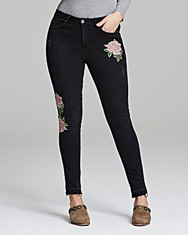 Chloe Rose Embroidered Skinny Jean Reg