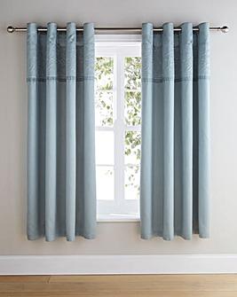 Aubrey Embellished Eyelet Lined Curtains
