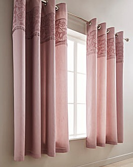 Aubrey Embellished Eyelet Lined Curtains