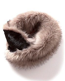 Two Tone Faux Fur Snood