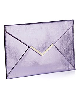 Metallic Envelope Clutch Bag