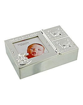 Silver Plated Keepsake Box with Tooth an