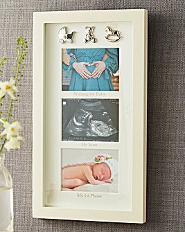 Bambino waiting For Baby Collage Frame