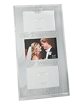Our Wedding Triple Photo Frame