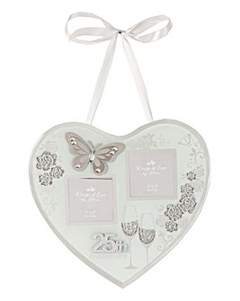 Anniversary Hanging Heart Photo Frame