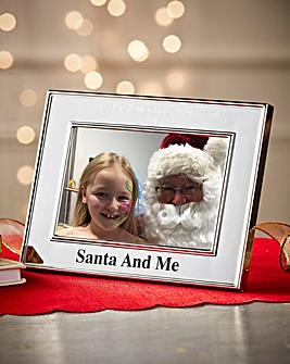Personalised Santa & Me Picture Frame