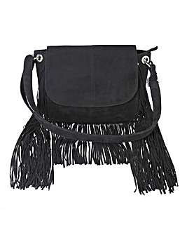 Premium Suede Fringing Saddle Bag