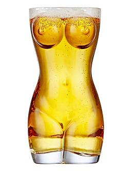 Novelty Lady Pint Glass