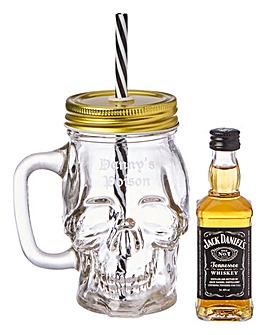 Personalised Poison Skull Jar and Jack D