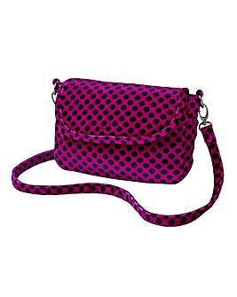 Joe Browns Spotty Velvet Bag