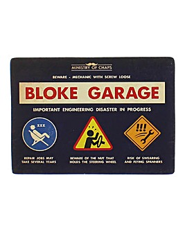Ministry of Chaps Bloke Garage Plaque