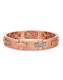 Jon Richard Crystal Pave Link Bracelet