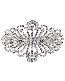 Mood Silver Crystal Burst Hair Clip