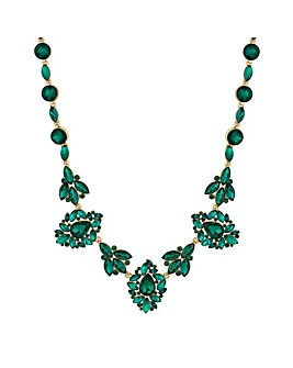Mood Green Crystal Ornate Necklace