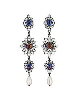 Mood Ornate Crystal Drop Earring