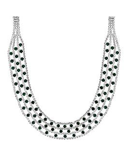 Mood Green Diamante Collar Necklace
