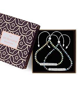 Jon Richard Metallic Bead Bracelet Set