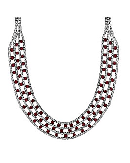 Mood Red Diamante Collar Necklace