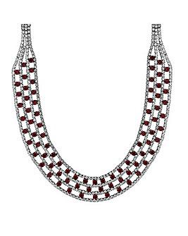 Mood Red Diamante Collar Necklace