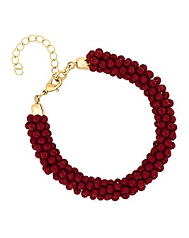 Mood Red Cluster Bead Bracelet