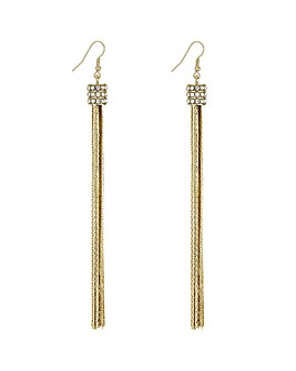 Mood Gold Tassel Drop Earring