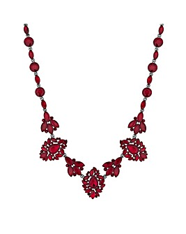 Mood Red Ornate Crystal Necklace