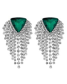 Mood Diamante Fringed Earring