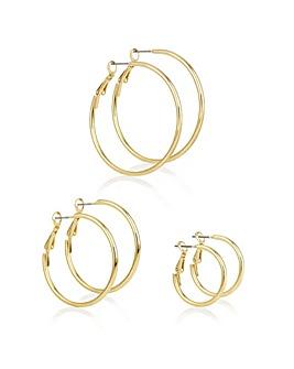 Mood Gold Multi Hoop Earring Set